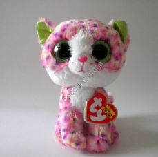 "Ty Beanie Boos, Sophie the Pink Cat, 6""."